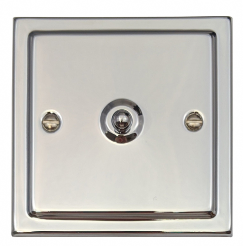 G&H TC285 Trimline Plate Polished Chrome 1 Gang Intermediate Toggle Light Switch